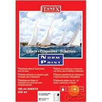 Tanex TW-2104 192x59 mm Laser Etiket 100 Ad.