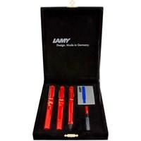Lamy Safari 3'Lu Kalem Setı Drv Kadıfe Kırmızı Sfr-3K