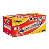 Bic Marker 2000 Yuvarlak Uç 12'Li Kutu Kırmızı