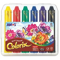 Amos Colorix Üçü Birarada Boya Plastik Kutu 6'Lı Crx5Pc6