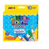 Amos Color Buddy Keçeli Boya Kalemi 10'Lu (Medium) Cm10P-M