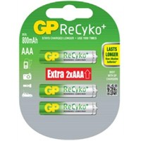GP 6'lı ReCyko Pro Ni-Mh Şarj Edilebilir AAA İnce Pil 850 mAh (GP85AAAHCBLL-2UP6)