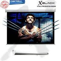 Xblack XGS-240 240x200 Glass Beads Storlu İthal Projeksiyon Perdesi (Arkası Siyah Fonlu)