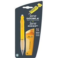 Serve Double Erase Ve Deep Mekanik Kurşun Kalem 07 2'Li Blister Hardal Sarısı Sv-Bdsmdhs 07