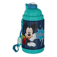 Mickey Mouse Pipetli Çelik Matara (72960)