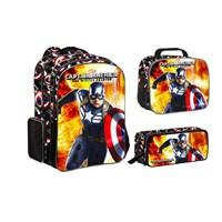 Marvel Captain America 3'lü Okul Seti 29x37x15