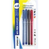Pensan 2210 My-Pen Tükenmez Kalem 1.0Mm Karışık 4'lü