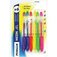 Pensan 6 Renk Neon Gel Set