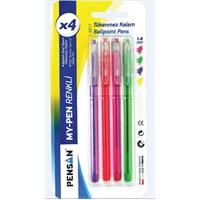 Pensan 2211 My-Pen Tükenmez Kalem 1.0Mm Renkli 4'lü