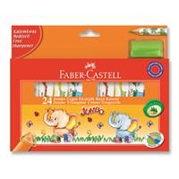Faber-Castell Jumbo Üçgen Ekolojik Boya Kalemi 24 Renk (5171123024)