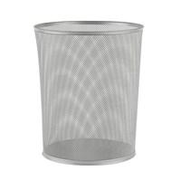 Delikli Metal Çöp Kovası - Gri
