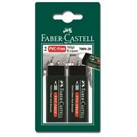 Faber-Castell 2 Plastik Silgi 7089/20 - Siyah (5500188920)