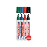 Edding 360XL Yuvarlak Uçlu Yazı Tahtası Kalemi 4'Lü Blister (Karışık Renk) - ESKİ KOD
