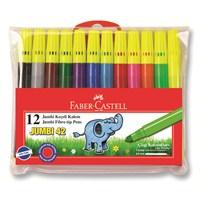 Faber-Castell Jumbi-Neon Floresan Markör 12'li Poşet (5068031242)