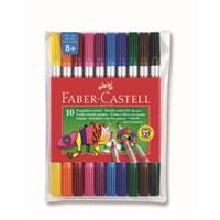 Faber-Castell Çift Uçlu Keçeli Kalem 10 Renk (5068151110)