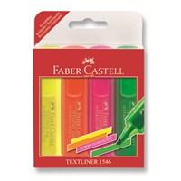 Faber-Castell Şeffaf Gövde Fosforlu Kalem 1546, 4'lü Poşet (5038154604)