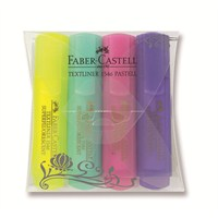 Faber-Castell Şeffaf Gövde Pastel Renkler 1546 4'lü Poşet (5038154610)