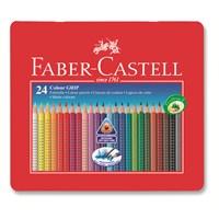 Faber-Castell Grip 2001 Metal Kutu Boya Kalemi 24 Renk (5170112423)