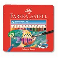 Faber-Castell Metal Kutu Aquarel Boya Kalemi 24 Renk (5170115930)