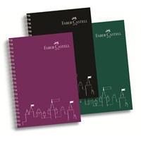 Faber-Castell PP Kapak Koyu Renkler Çizgili Defter 80 Yaprak (5075400105)