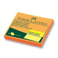 Faber-Castell Yapışkan Notluk 50x50mm Fosforlu Turuncu (5089565843)