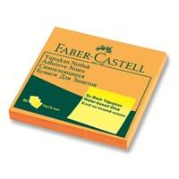 Faber-Castell Yapışkan Notluk 75x75mm Fosforlu Turuncu (5089565435)