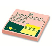 Faber-Castell Yapışkan Notluk Harmony 75x75mm Pembe (5089585402)