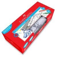 Faber-Castell Baskılı Yapışkanlı Resim Kağıdı & Keçeli Kalem Seti - Erkek (5089871200)