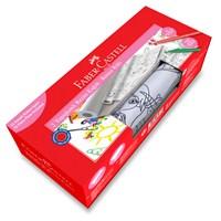 Faber-Castell Baskılı Yapışkanlı Resim Kağıdı & Keçeli Kalem Seti - Kız (5089871100)