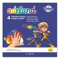 Adeland Parmak Boyası 4 Renk 45 ml (180 ml)