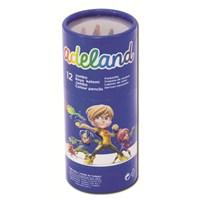 Adeland Jumbo Karton Tüp Boya Kalemi 12 Renk Yarım Boy (5,4mm)