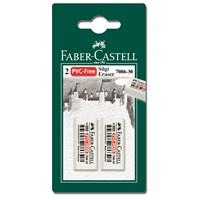 Faber-Castell 2 Plastik Silgi 7086/30 - Beyaz (5500188630)