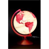 Gürbüz Işıklı Dünya Küresi 26cm (Mor/Pembe)