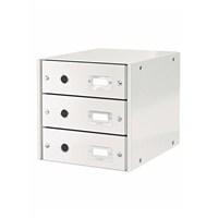 Leitz Wow C&S 3 Çekmeceli Evrak Rafı Metalik Beyaz 60480001