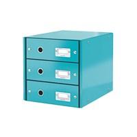 Leitz Wow C&S 3 Çekmeceli Evrak Rafı Metalik Buz Mavisi 60480051