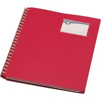 Serve Prezantasyon Dosyası 20 Sayfa(Mekanizma Dışta,Etiketlik) Sayfa Eklenebilir Özellikli Kırmızı Sv-6620