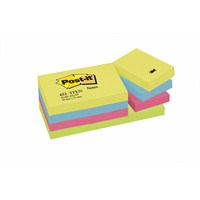 Post-it® Not, Enerji Serisi, 4 renk x 3 blok, 100 yaprak, 38x51mm