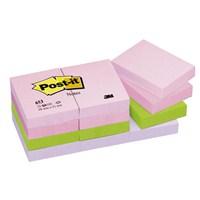 Post-it® Not, Floral Serisi, Pastel Tonlari, 4 renk x 3 blok, 100 yaprak, 38x51mm