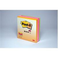 Post-it® Küp Not, Neon Renkler, 225 yaprak, 76mm76mm