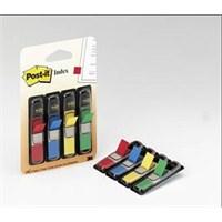 Post-it® Index-Isaret Bandi, 4 renk x 35 adet, Siyah Dispenserli