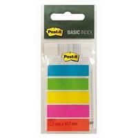 Post-it® Index Basic Isaret Bandi, 5 renk x 20 adet