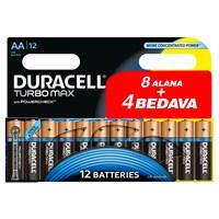 Duracell Turbo Max Alkalin AA Kalem Pil (8+4) 12'li Paket