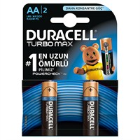 Duracell Turbo Max Alkalin AA Kalem Pil 2'li Paket