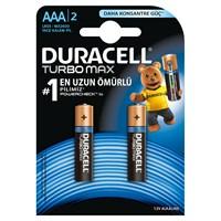 Duracell Turbo Max Alkalin AAA İnce Kalem Pil 2'li Paket