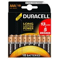 Duracell Alkalin AAA İnce Kalem Pil (13+5) 18'li Paket