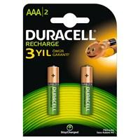 Duracell Şarj Edilebilir AAA İnce Kalem Pil 750 mAh 2'li Paket