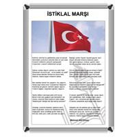 Akyazı 35x50 Aliminyum İstiklal Marşı