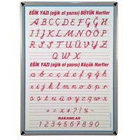 Akyazı 50x70 Eğik El Yazısı (Metal Çerçeve)