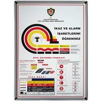 Akyazı 50x70 İkaz Ve Alarm (Metal Çerçeve)
