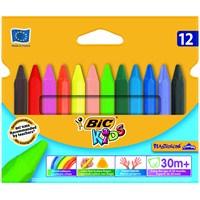 Bic Elleri Kirletmeyen Üçgen Pastel 12'li Kutu